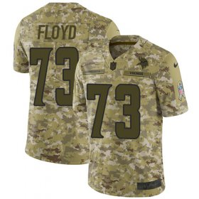 Wholesale Cheap Nike Vikings #73 Sharrif Floyd Camo Men\'s Stitched NFL Limited 2018 Salute To Service Jersey