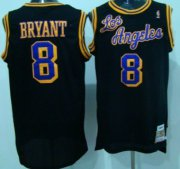 Wholesale Cheap Los Angeles Lakers #8 Kobe Bryant Los Black Swingman Throwback Jersey