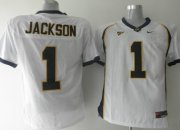 Wholesale Cheap California Golden Bears #1 Jackson White Jersey