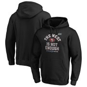 Wholesale Cheap San Francisco 49ers NFL 2019 NFC West Division Champions Cover Two Pullover Hoodie Black