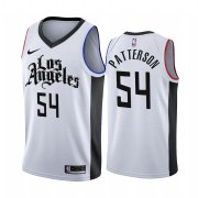 Wholesale Cheap Nike Clippers #54 Patrick Patterson 2019-20 White Los Angeles City Edition NBA Jersey
