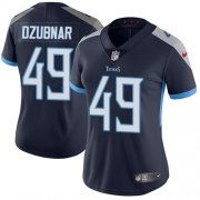 Wholesale Cheap Nike Titans #49 Nick Dzubnar Navy Blue Team Color Women's Stitched NFL Vapor Untouchable Limited Jersey