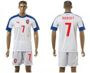 Wholesale Cheap Czech #7 Posicky Away Soccer Country Jersey