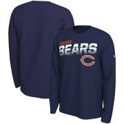 Wholesale Cheap Chicago Bears Nike Sideline Line of Scrimmage Legend Performance Long Sleeve T-Shirt Navy