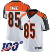 Wholesale Cheap Nike Bengals #85 Tee Higgins White Men's Stitched NFL 100th Season Vapor Untouchable Limited Jersey