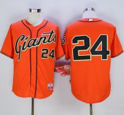 Wholesale Cheap Giants #24 Willie Mays Orange Cool Base Stitched MLB Jersey