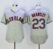 Wholesale Cheap Indians #23 Michael Brantley Grey Flexbase Authentic Collection Stitched MLB Jersey