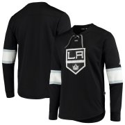 Wholesale Cheap Los Angeles Kings adidas Platinum Long Sleeve Jersey T-Shirt Black