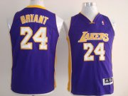 Cheap Los Angeles Lakers #24 Kobe Bryant Purple Kids Jersey