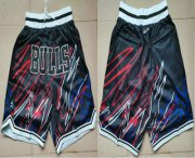 Wholesale Cheap Men's Chicago Bulls Black Lightning Just Don Swingman Shorts
