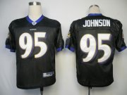 Wholesale Cheap Ravens #95 Jarret Johnson Black Stitched NFL Jersey