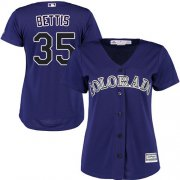 Wholesale Cheap Rockies #35 Chad Bettis Purple Alternate Women's Stitched MLB Jersey