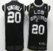 Wholesale Cheap San Antonio Spurs #20 Manu Ginobili Latin Nights Black Swingman Jersey