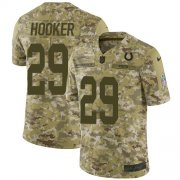 Wholesale Cheap Nike Colts #29 Malik Hooker Camo Youth Stitched NFL Limited 2018 Salute to Service Jersey