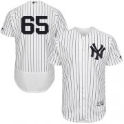 Wholesale Cheap Yankees #65 James Paxton White Strip Flexbase Authentic Collection Stitched MLB Jersey