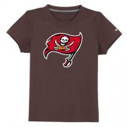 Wholesale Cheap Tampa Bay Buccaneers Sideline Legend Authentic Logo Youth T-Shirt Brown