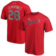 Wholesale Cheap American League #28 J.D. Martinez Majestic 2019 MLB All-Star Game Name & Number T-Shirt - Red