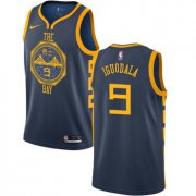 Wholesale Cheap Men's Golden State Warriors #9 Authentic Andre Iguodala Navy Blue City Edition Nike NBA Jersey