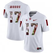 Wholesale Cheap Washington State Cougars 17 Kassidy Woods White Fashion College Football Jersey