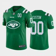 Wholesale Cheap New York Jets Custom Green Men's Nike Big Team Logo Player Vapor Limited NFL Jersey