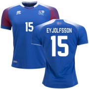 Wholesale Cheap Iceland #15 Eyjolfsson Home Soccer Country Jersey