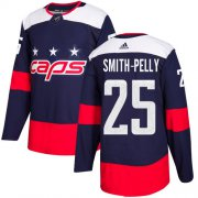 Wholesale Cheap Adidas Capitals #25 Devante Smith-Pelly Navy Authentic 2018 Stadium Series Stitched NHL Jersey