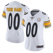 Wholesale Cheap Nike Pittsburgh Steelers Customized White Stitched Vapor Untouchable Limited Women's NFL Jersey