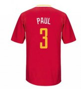 Wholesale Cheap Men's Houston Rockets #3 Chris Paul New Red Short-Sleeved Stitched NBA Adidas Revolution 30 Swingman Jersey