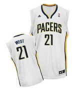 Wholesale Cheap Indiana Pacers #21 David West White Swingman Jersey