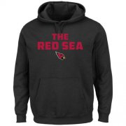 Wholesale Cheap Arizona Cardinals Majestic Hot Phrase Pullover Hoodie Black
