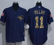 Wholesale Cheap Blue Jays #11 Kevin Pillar Denim Blue Salute to Service Stitched MLB Jersey