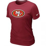 Wholesale Cheap Women's Nike San Francisco 49ers Logo NFL T-Shirt Red