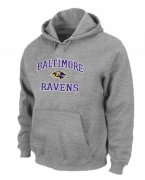 Wholesale Cheap Baltimore Ravens Heart & Soul Pullover Hoodie Grey