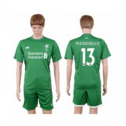 Wholesale Cheap Liverpool #13 Manninger Green Goalkeeper Soccer Club Jersey