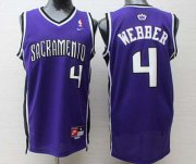 Wholesale Cheap Sacramento Kings #4 Chris Webber Sacramento Purple Swingman Jersey