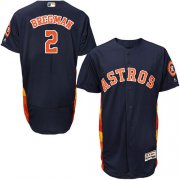 Wholesale Cheap Astros #2 Alex Bregman Navy Blue Flexbase Authentic Collection Stitched MLB Jersey