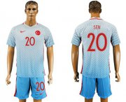 Wholesale Cheap Turkey #20 Sen Away Soccer Country Jersey