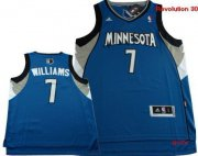 Wholesale Cheap Minnesota Timberwolves #7 Derrick Williams Revolution 30 Swingman Blue Jersey
