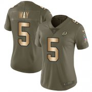 Wholesale Cheap Nike Redskins #5 Tress Way Olive/Gold Women's Stitched NFL Limited 2017 Salute To Service Jersey