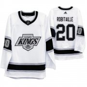 Wholesale Cheap Los Angeles Kings #20 Luc Robitaille Men's Adidas 2019-20 Heritage White Throwback 90s NHL Jersey