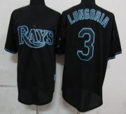 Wholesale Cheap Rays #3 Evan Longoria Black Fashion Stitched MLB Jersey