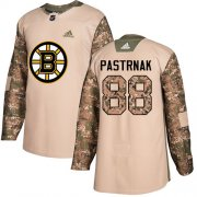 Wholesale Cheap Adidas Bruins #88 David Pastrnak Camo Authentic 2017 Veterans Day Stitched NHL Jersey