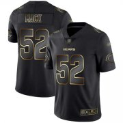 Wholesale Cheap Nike Bears #52 Khalil Mack Black/Gold Men's Stitched NFL Vapor Untouchable Limited Jersey
