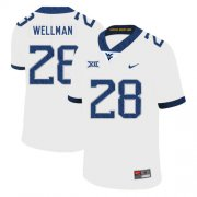 Wholesale Cheap West Virginia Mountaineers 28 Elijah Wellman White College Football Jersey