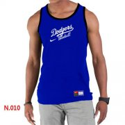 Wholesale Cheap Men's Nike Los Angeles Dodgers Home Practice Tank Top Blue
