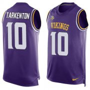 Wholesale Cheap Nike Vikings #10 Fran Tarkenton Purple Team Color Men's Stitched NFL Limited Tank Top Jersey