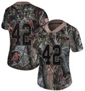 Wholesale Cheap Nike 49ers #42 Ronnie Lott Camo Women's Stitched NFL Limited Rush Realtree Jersey
