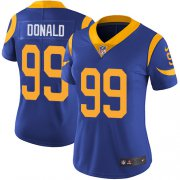 Wholesale Cheap Nike Rams #99 Aaron Donald Royal Blue Alternate Women's Stitched NFL Vapor Untouchable Limited Jersey