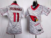 Wholesale Cheap Nike Cardinals #11 Larry Fitzgerald Zebra Women's Stitched NFL Elite Jersey