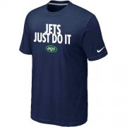 Wholesale Cheap Nike New York Jets Just Do It Dark Blue T-Shirt